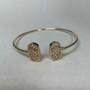 NEW Gold Filigree Cut Out Bangle Cuff Bracelet